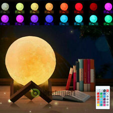 3D Moon Lamp Moonlight USB LED Night Lunar Light Touch Color Changing Xmas Gift