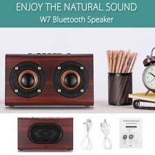 W7 Retro Wooden Subwoofer Wireless Bluetooth Speaker HIFI Stereo Bass Dual