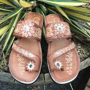 Womens Mexican Handmade Leather HUARACHES Sandals Sandalia Mujer MEXICO DEDO