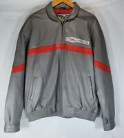 Corvette Z06 Gray Genuine Leather Jacket Coat Size XL by Mad House Marketing
