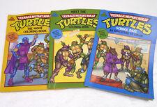 Lot 3 Vintage 90s Teenage Mutant Ninja Turtles Coloring Books NEW Uncolored 1990