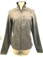 Columbia Titanium women's gray/brown zip front jacket size M pockets, thumb hole