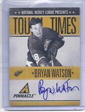 10-11 2010-11 PINNACLE BRYAN WATSON TOUGH TIMES AUTOGRAPH /250 BW RED WINGS