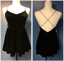 New Women Crushed Velvet Sleeveless Backless Short Romper Casual Jumpsuit Black