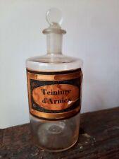 Ancien Flacon de Pharmacie Apothicaire Teinture d'Arnica