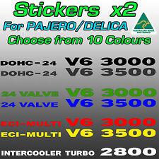 Mitsubishi Pajero / Delica 3000 3500 V6 and 2800 turbo stickers decals