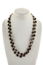Lot 2 Marc By Marc Jacobs Black Gold Tone Crystal Chain Necklaces