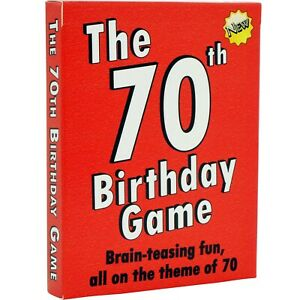 Unique 70th Birthday Gifts for men and for Women: THE 70th BIRTHDAY CARD GAME