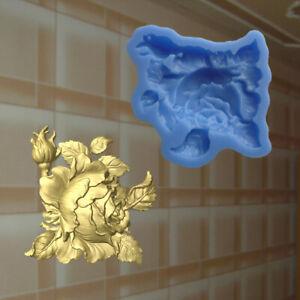 Rose silikonform Blumen Gießform resin Relief Mould Deckenverzierung (150)
