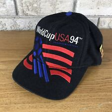 Vtg 90s World Cup USA Soccer 94 Snapback Cap Adidas Flag Embroidered Hat 1994 OG