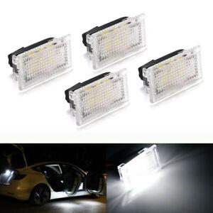 4 Pcs Ultra-bright LED Interior Door Trunk Lights Kit For Tesla Model 3/S/X