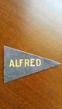 Antique Tobacco Cigarette Promo Leather College Pennant Patch Alfred Rare!