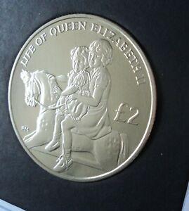 2012 British Indian Ocean Queen Elizabeth II Jubilee £2 Crown Coin BU UNC Cased