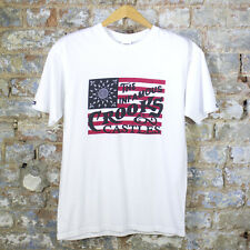 Crooks & Castles Vintage Flag T-Shirt In White Sizes S