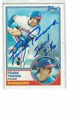 1983 Topps Frank Tanana Texas Rangers Authentic Autograph COA BIBLE VERSE