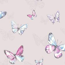 Amelia Schmetterlinge Tapete - Heidekraut/Pink - Holden 98870