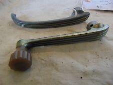 Pair Ford Deluxe Window Crank and Door handles Patina Original Trog Hot Rod