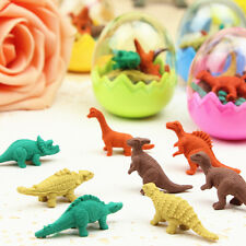 1 Set Creative Dinosaur Eraser Mini Cute Rubber Kawaii Students Stationery