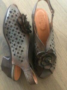 L'Artiste Spring Step Lovella Grey Multi SlingBack Wedge Sandal New Mult Sizes