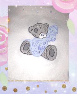 Personalised Soft Fleece Tatty Teddy  Blanket Unique Newborn Gift Baby Shower