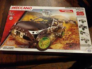 Meccano Maker Systems 15207 MOUNTAIN RALLY RALLYE 390 pcs Metal 25 models