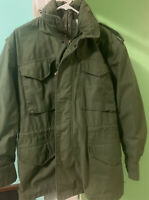 Army Coat,  Cold Weather Man's Field OG-107 Small Regular Army Green