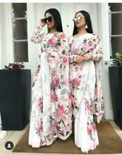 Floral Saree Sari Indian Georgette Printed Designer Saree Party Wear Saree