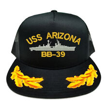 CUSTOM MAKE USS ARIZONA BB-39 SCRAMBLED EGGS YUPOONG CAP HAT