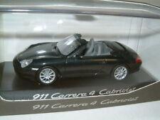 1/43 PORSCHE 911 CARRERA 4 CABRIOLET METALLIC BLACK , MINICHAMPS.