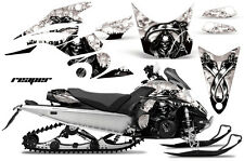 Snowmobile Graphics Kit Decal Sticker Wrap For Yamaha FX Nytro 08-14 REAPER WHT