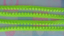 Neon Lime Green Pompom Embroidered Craft Knitting Findings Sweater Toddler Shawl