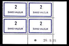 FRANCE TIMBRE FICTIF F215 ** MNH, coin daté 26.9.85, TB