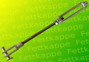 Bremsgestänge M8 incl. Spannschloß + Gabelkopf f. Auflaufeinrichtungen Peitz etc