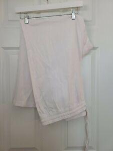 NWT Ann Taylor The Linen Easy Pants White XL Flax Breezy Summer Full Length