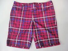 NEW Womens CALLAWAY GOLF Moisture Wicking OPTI SERIES Plaid BERMUDA Shorts 12