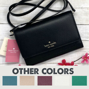 Kate Spade Leather Crossbody Harlow Wallet Purse Multiple Colors MSRP $239