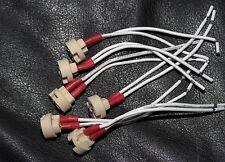GU5.3 G6.35 MR16 MR11 (set of 6) ceramic socket  high temp wire, USA shipping