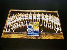 WEST VIRGINIA WVU MOUNTAINEERS 2008-09 5OTH ANNIVERSARY 1958-59 BB TEAM 6x9 CARD