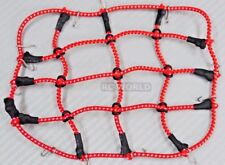 RC Truck Scale ROOF Accessories BUNGEE CORD NET Cargo Net  For Roof Rack RED