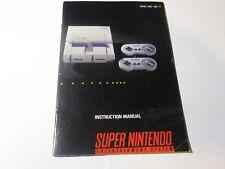 Super Nintendo SNES Console Instruction Manual Booklet SNS-USA-1