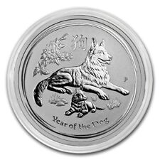 2018 ~ 1/2~OZ. .9999 SILVER ~ LUNAR  YEAR of the DOG ~ PERTH MINT ~ GEM ~ $29.88