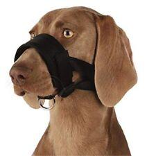 Muselières noirs Trixie en tissu pour le dressage des chiens