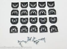 20 pcs 67 68 69 Camaro Firebird Rear Glass Back Window Reveal Moulding Clips