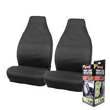 Heavyweight Heavy Duty Car Seat Protectors Pair Black Slip on Covers Van Renault