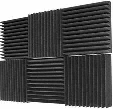 "6 Pack Acoustic Panels Studio Foam Wedges 2"" X 12"" X 12"", Charcoal Made in USA"