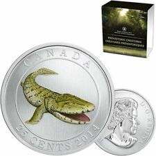 2014 Canada 25-Cent Dinosaur Glow-in-the-dark Coin - Tiktaalik