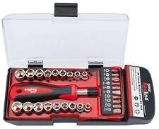 GENUINE Draper socket and bit set ( 29 piece ) drive screw driver hex pozi posi