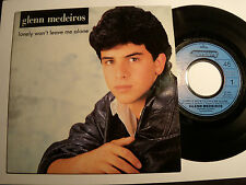 "GLENN MEDEIROS: Lonely won't leave me alone - 7"" 45T 1987 French MERCURY 870191"