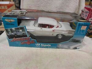 American Muscle 1/18 Scale American Graffiti 58 Impala WHITE NIB