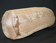 vb11g Light Brown Pale Brown Taupe Cotton Blend Bolster Neck Roll Pillow Case